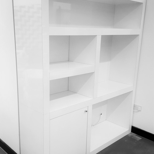 High gloss bespoke storage unit